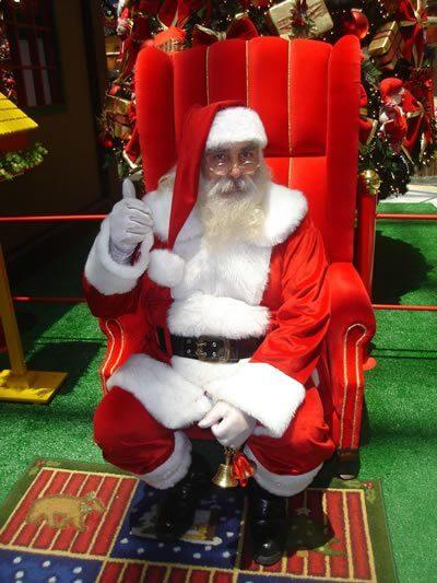 Papai Noel em Shopping em São Paulo